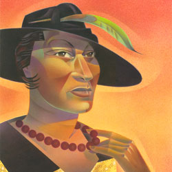 D.B. Johnson's portrait of Zora Neale Hurston for The New York Times Book Review